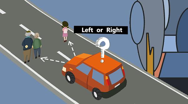 向左,还是向右? 图片来自微软