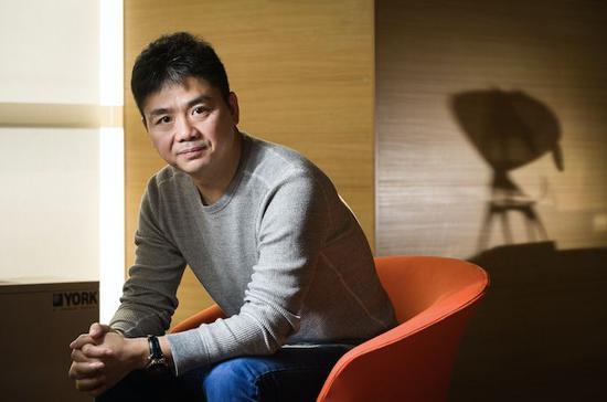 京东商城创始人及 CEO 刘强东。摄影:邓攀