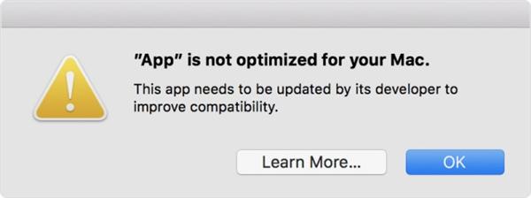 苹果加速行动!MacOS 弹窗提醒抛弃 32 位应用